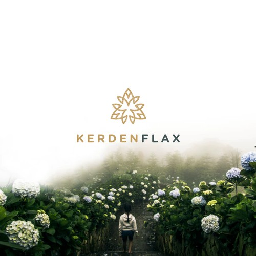 Bold and Timeless logo For Kerden Flax