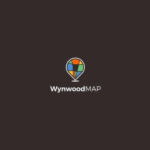 Wynwood Map logo concept