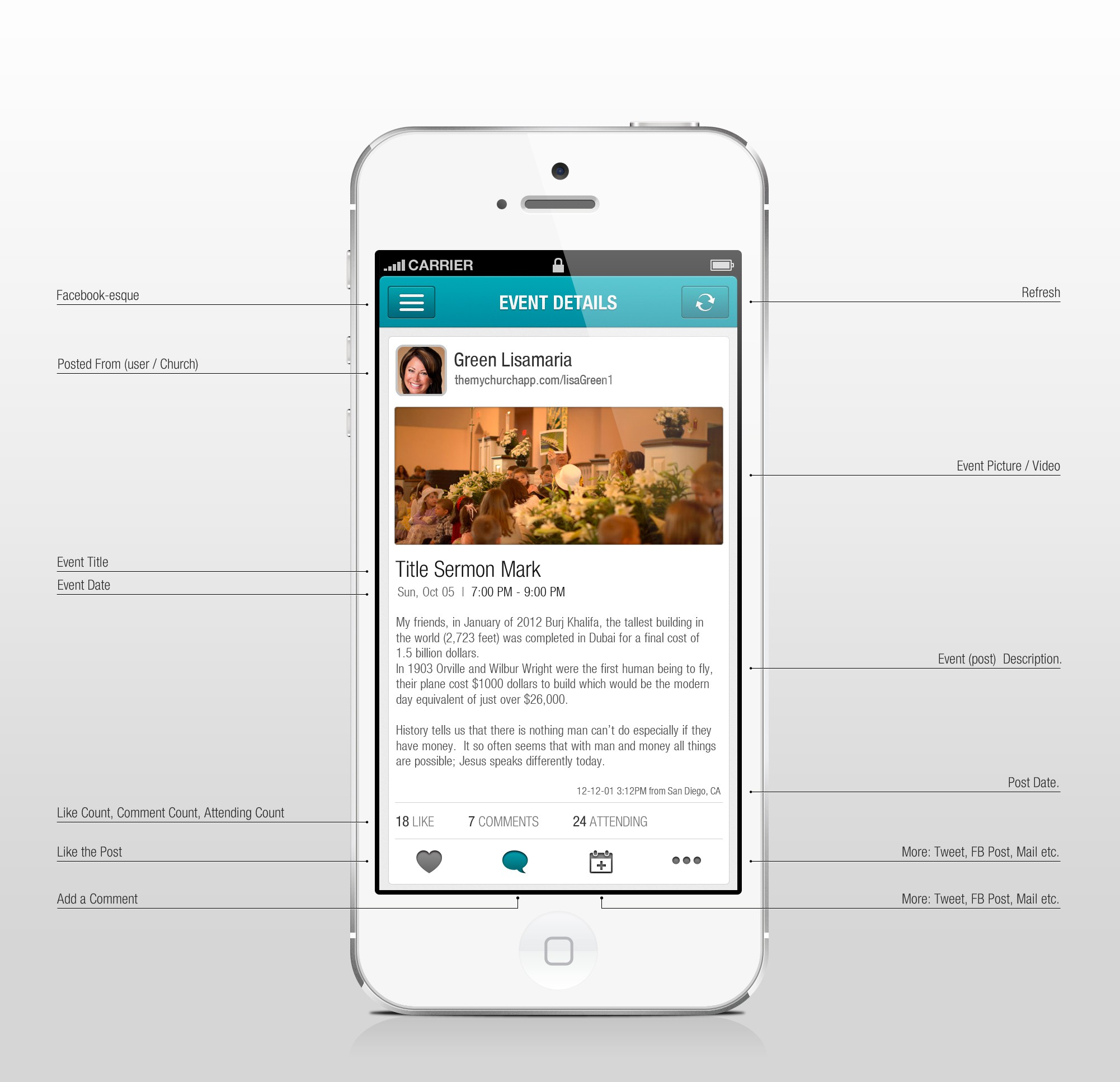 Mobile App Design for Churches