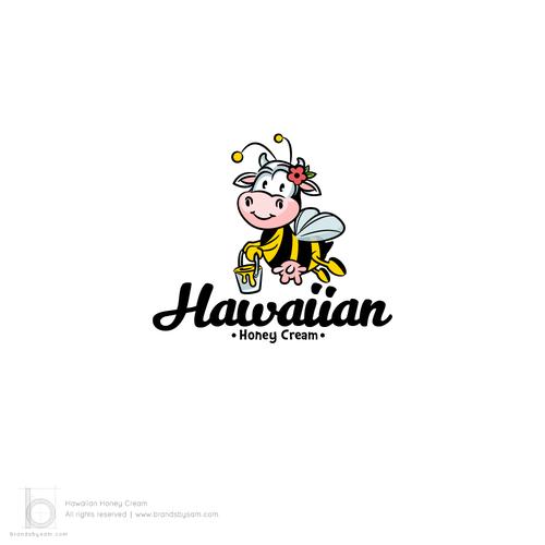 Logo Design for Hawaiian Honey Cream