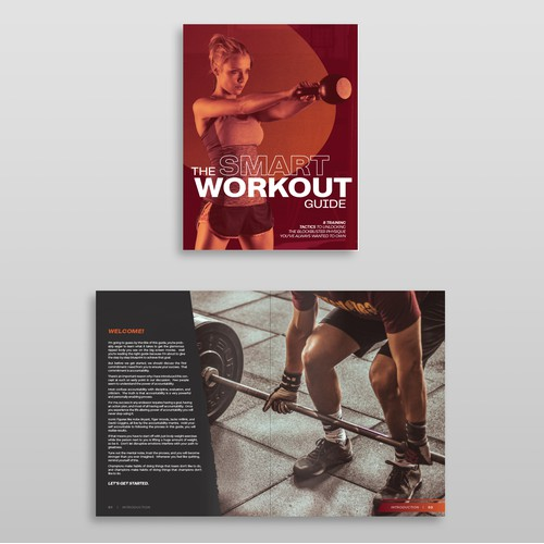 Sleek + Modern Fitness Booklet Design
