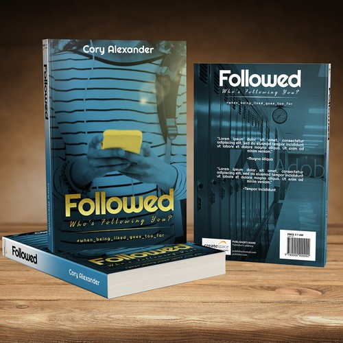Book Cover Concept for Followed: Who's Following YOU? by Cory Alexander