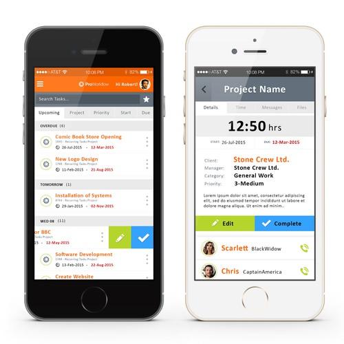 ProWorkflow App Concept