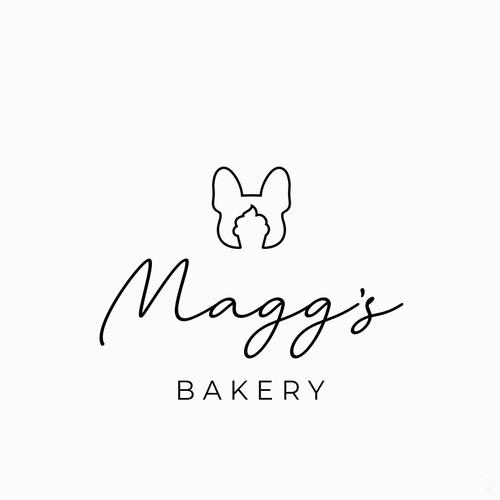 Design a simple but fun logo for a vegan bakery