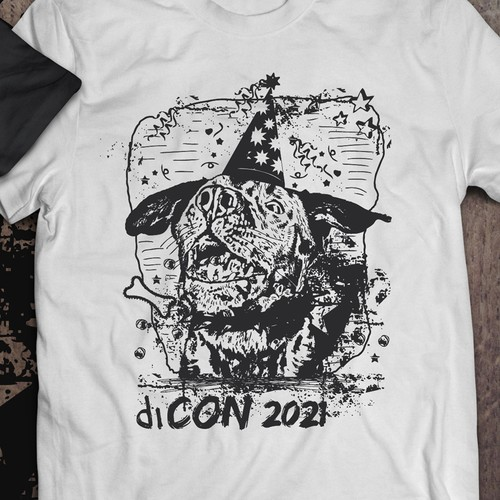 T-shirt design for a diCON 2021