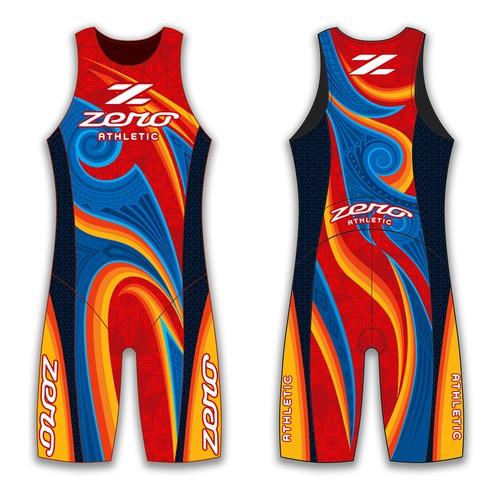 Create new triathlon clothing designs for Zero Athletic