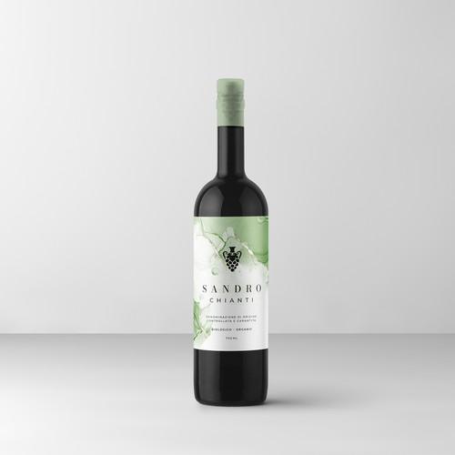 Sandro Chianti Wine Label