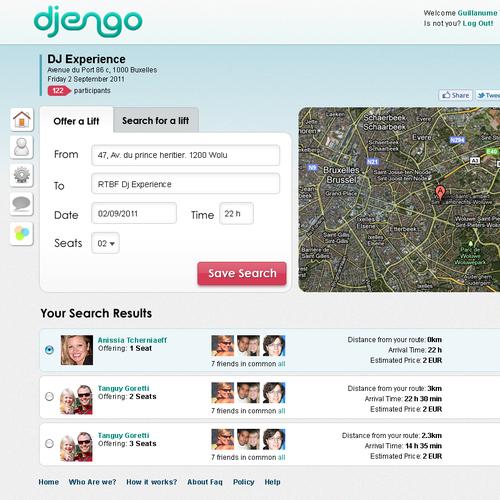 website design for djengo Innovative Carpooling