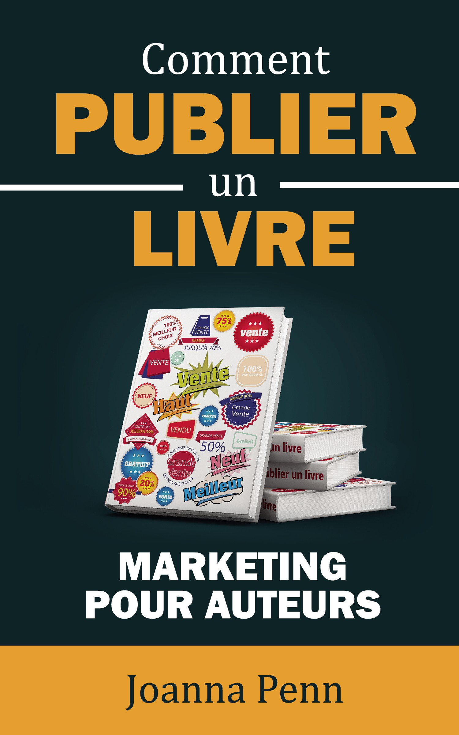 """Cover design in french for """"How to Market a Book"""""""