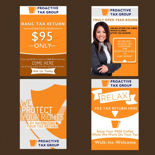 4 Poster design for proactive tax group