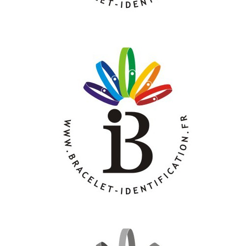 Logo for identification wristbands' webshop