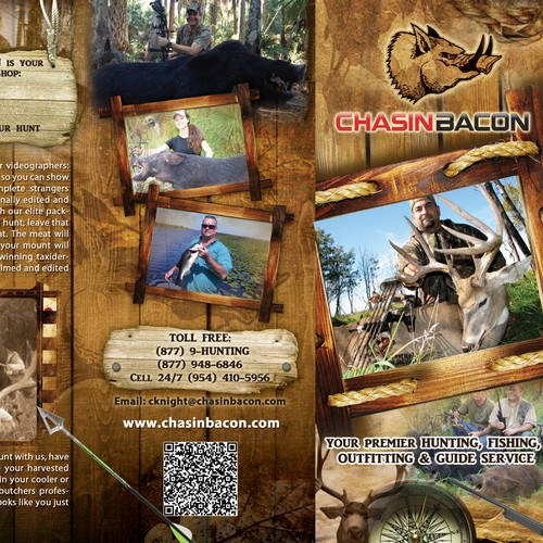 brochure design for CHASIN BACON