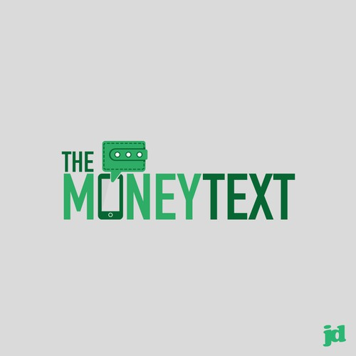 Logo for a text message giveaway game