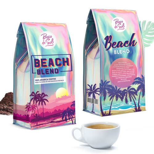 Holographic Coffeae packaging design