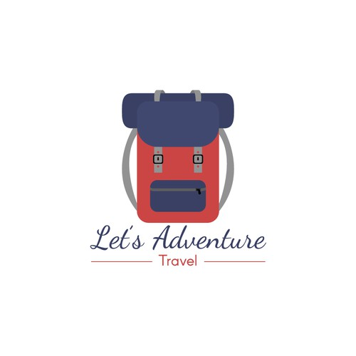 Let's Adventure Travel Logo Concept
