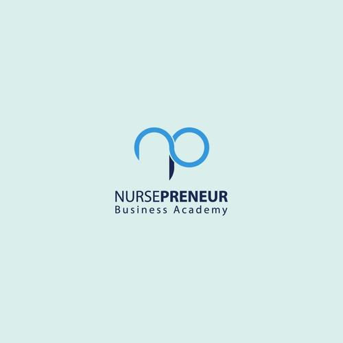 Concept logo for nursing heart education