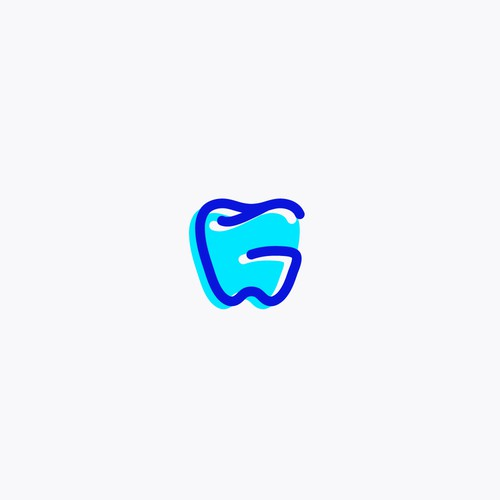 """Tooth formed by a letter """"G"""" logo design"""