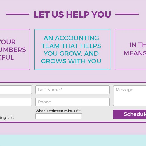 Landing Page for an Accountant.