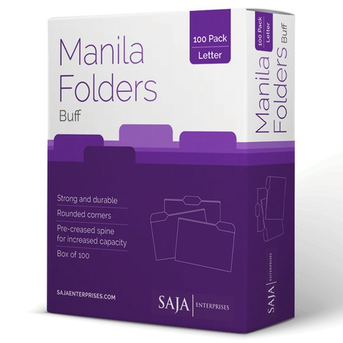 Manilla File Folders Box Design