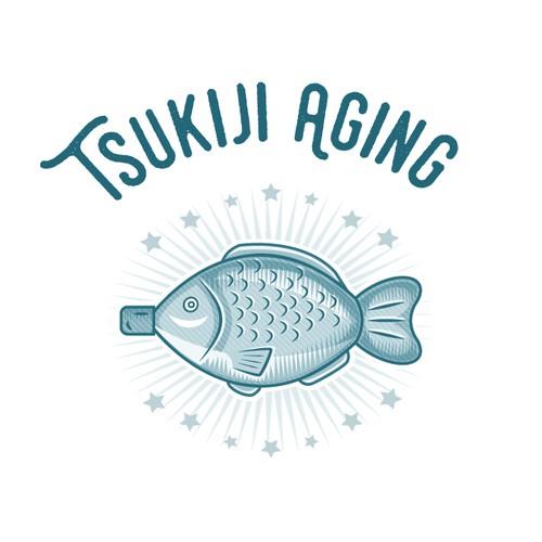 Tsukiji Aging Logo