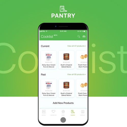 Cooklist Mobile App Design