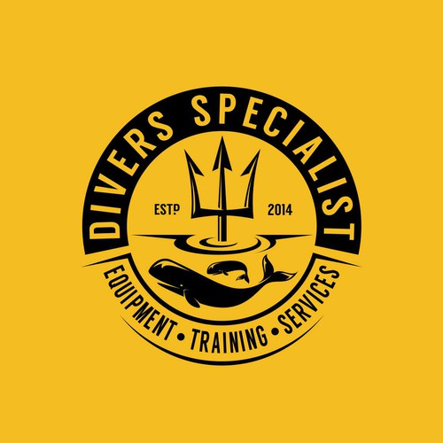 Create a logo for scuba diving specialize company