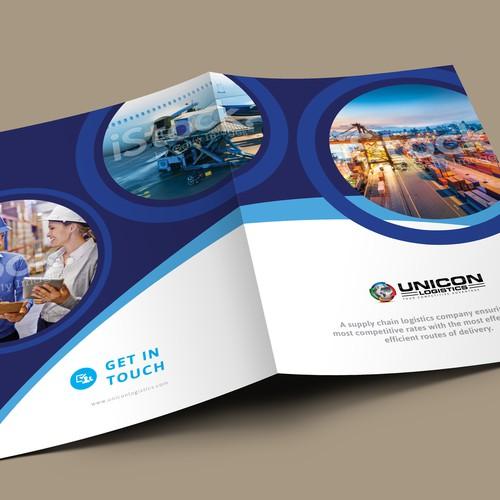 Brochure design  for logistics business