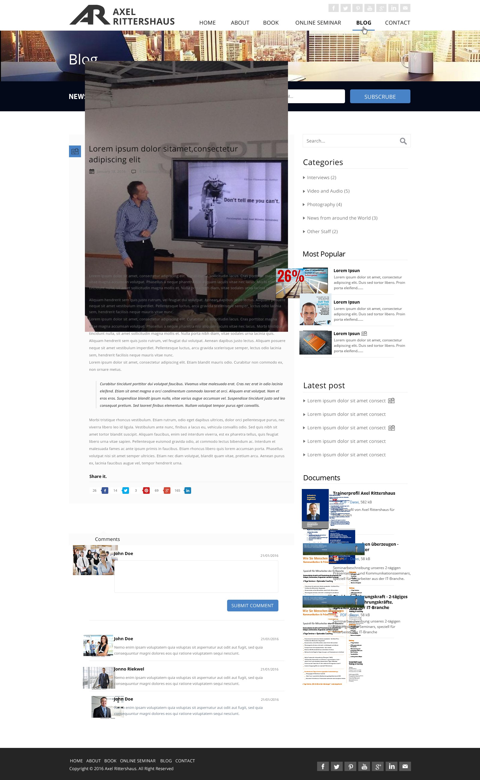 """WOW design for the new """"go to"""" place for IT leaders - author and online seminar website"""
