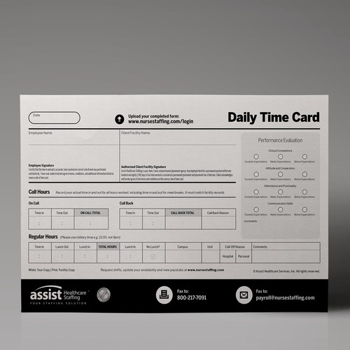 Business Forms/Stationery - Payroll Time Card