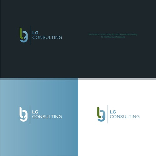 Simple logo design and brand identity for LG Consulting.