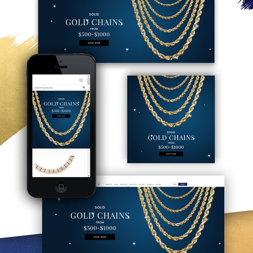 Banner design for luxury jewelry