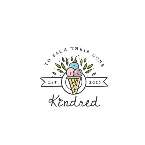 Logo for Kindred Ice Cream