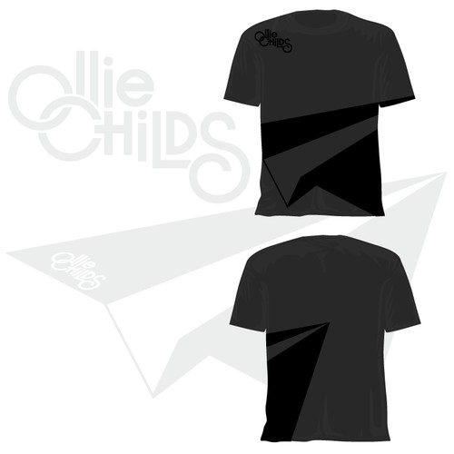 Abstact Black on Black Tshirt