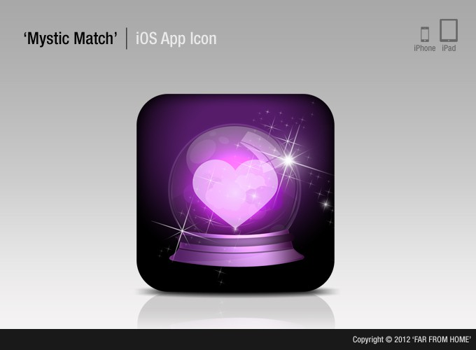 App Icon for iPhone App, MysticMatch