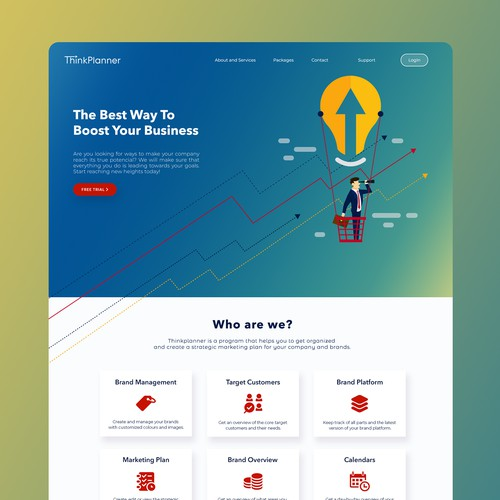 Brand identity and landing page design