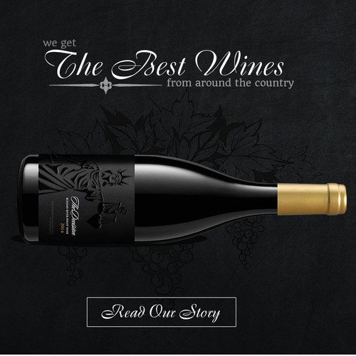 Web page for a wine company