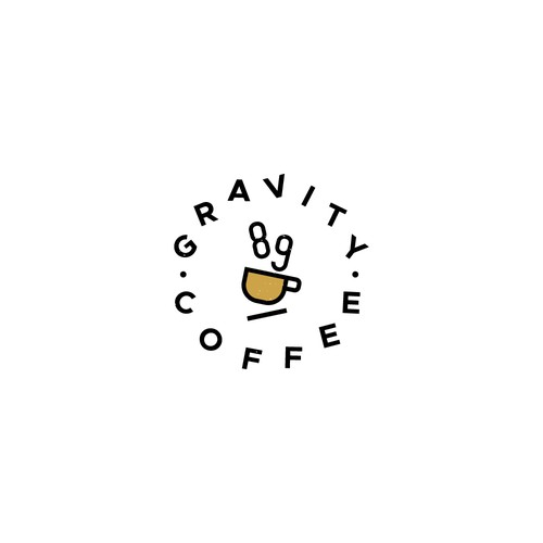 Unique logo for Gravity Coffee