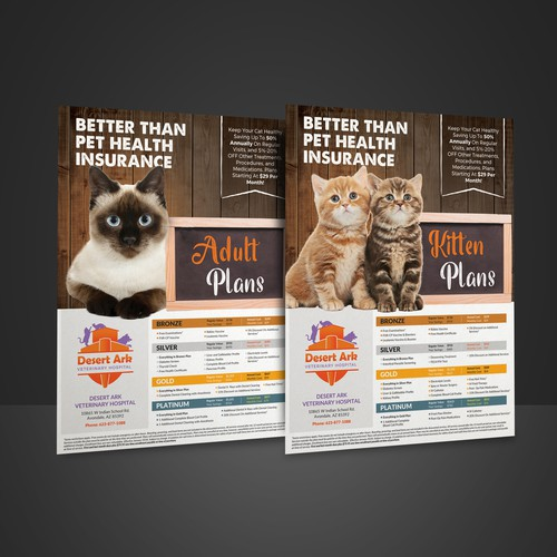 DesertArk Veterinary Hospital Flyer