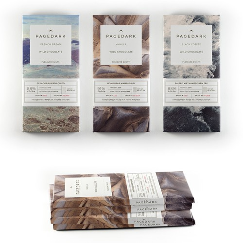 Clean and simple packaging for premium chocolate brand