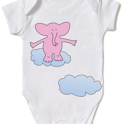 Body suit design for 6 - 12 months old baby girl