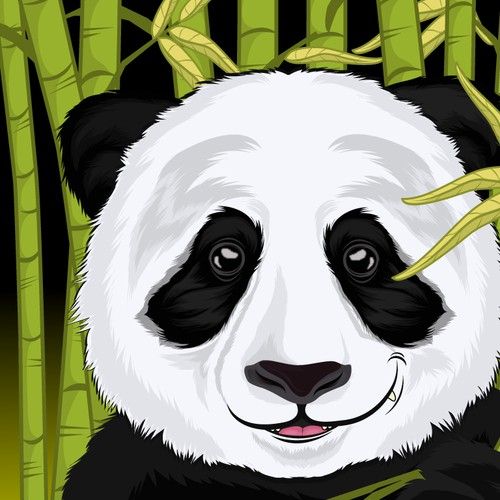 Smirking Panda Illustration