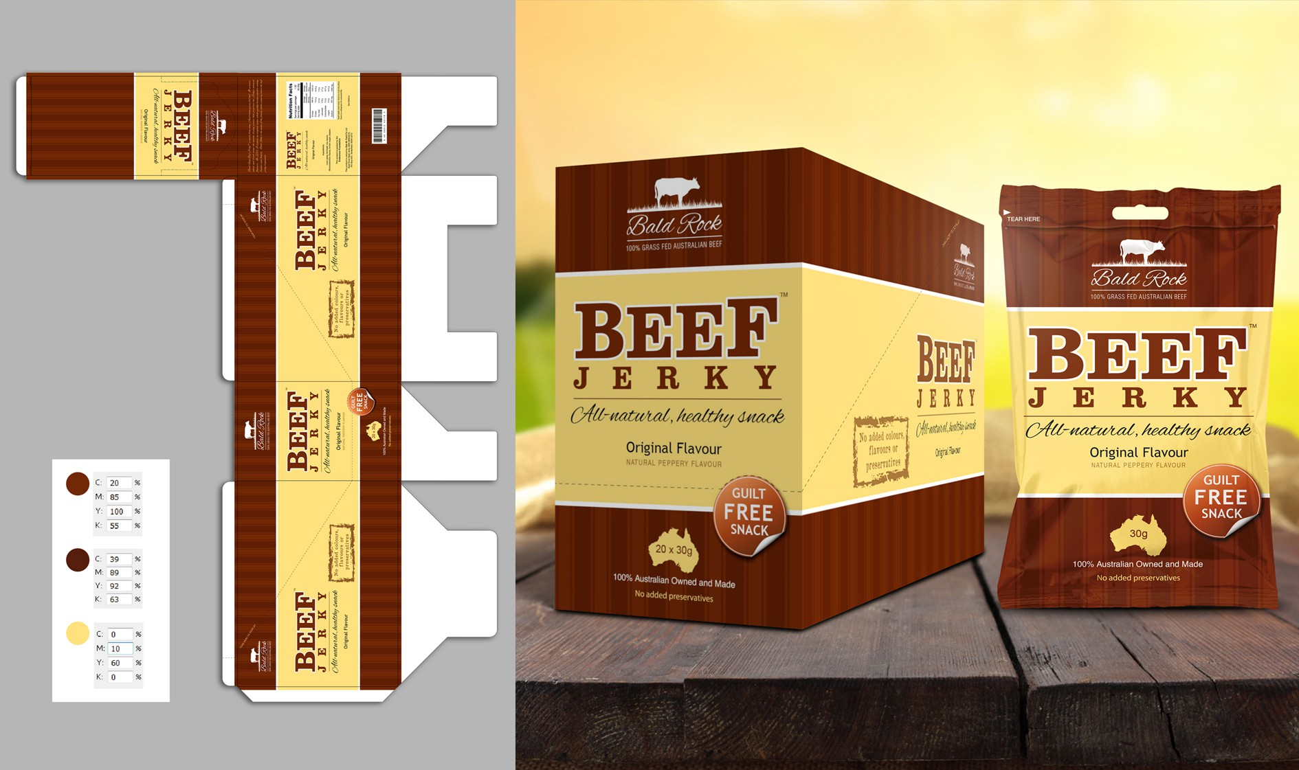 Beef Jerky Packaging/Label Design