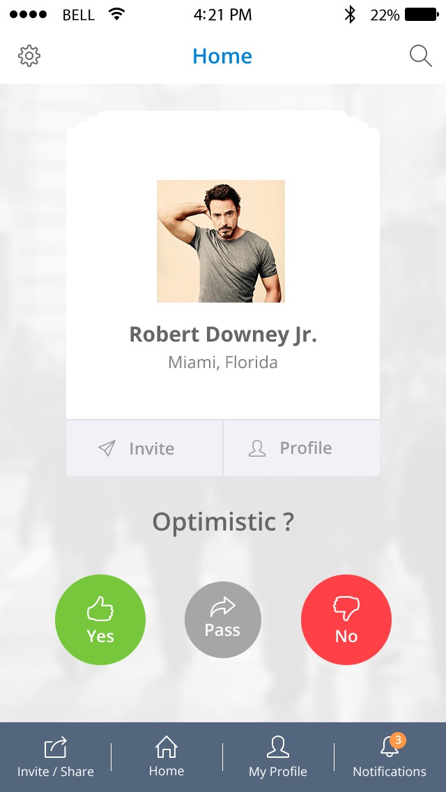 Design an iOS app for an anonymous social media app to candidly share opinions about people