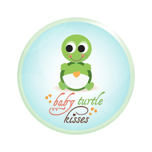 Baby turtle kisses
