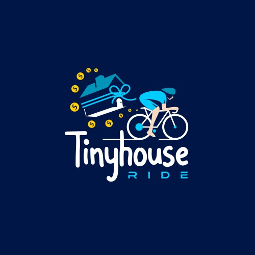 Tinyhouse fundraiser logo to entice cyclists to participate