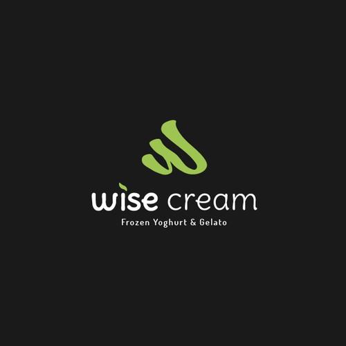 Modern and friendly logo for frozen yogurt and gelato shop
