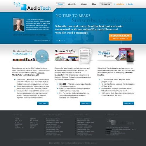 National publishing partner needs ELEGANT site to go w/new logo