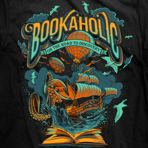 t-shirt design for bookaholic