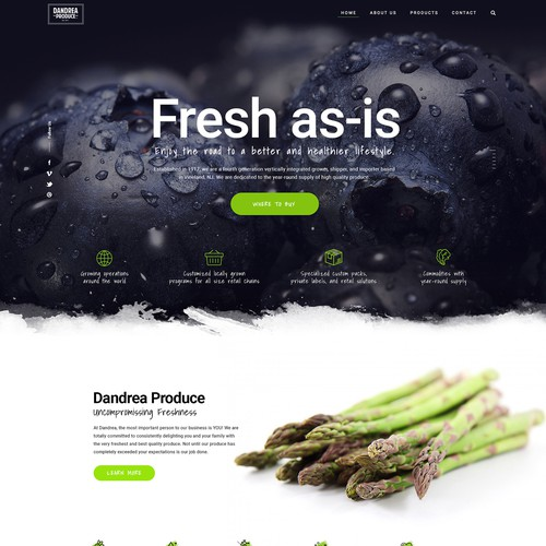 Eye catching design for farm producer
