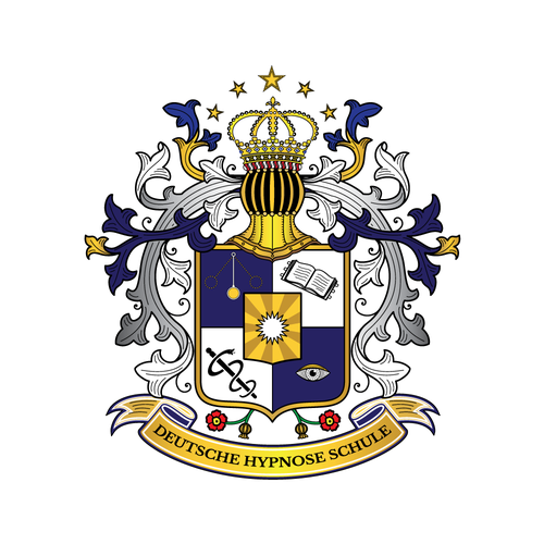 Coat of arms style logo for school